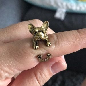 Jewelry - Frenchie Hug Open Ring